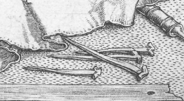 """På den berømte teikninga """"Melancholia"""" av Albrecht Dürer frå 1514 er det faktisk med nokre spiker som er ganske detaljert teikna. Hovudet minner ein del om spikrane frå klokketårne i Ransberg. Teikning: Albrecht Dürer"""