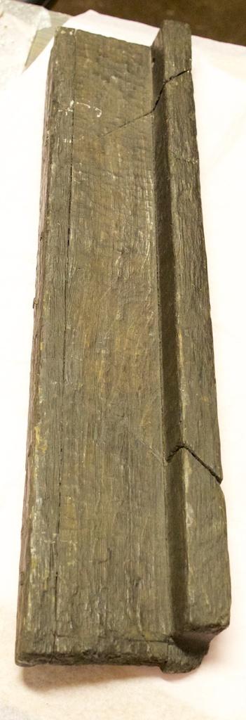 Høyre ende av støtbrettet sett ovafrå. Foto: Roald Renmælmo