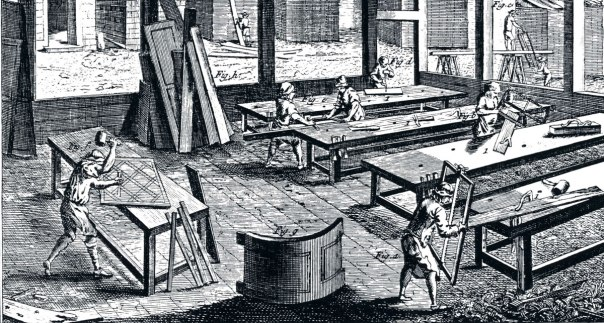 Vekrstadsbild ur Diderot & Dállembert.