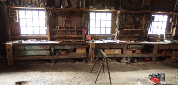 Werkbank in the workshop of Ernest in Holland. Photo: Ernest Dubois
