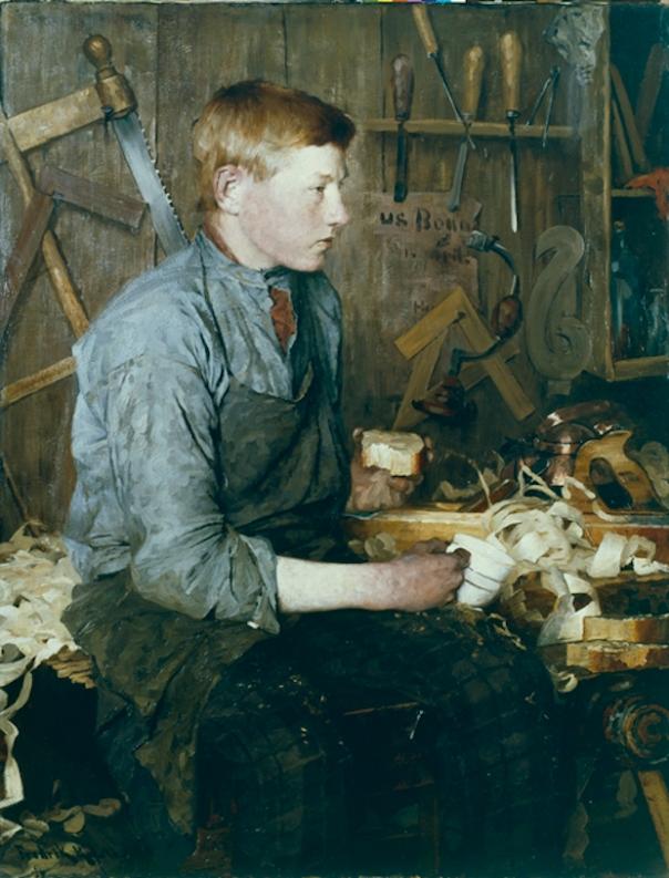 I snekkerverkstedet / In the carpenters workroom, 1886