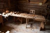 Høvelbenken utslått klar til bruk. Foto: Roald Renmælmo