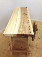 The bench top are made of ash and the tool tray are made of pine. Photo: Anton Nilsson