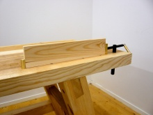 For tail vise he has used some standard hardware. The original bench does not have a tail vise Photo: Anton Nilsson
