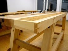 The tool tray are made of pine. Photo: Anton Nilsson