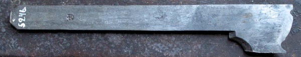 Molding plane iron. Photo: Roald Renmælmo