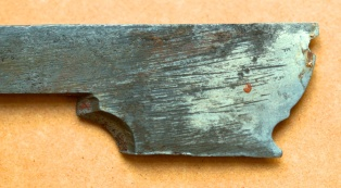 Details of the molding plane iron. Photo: Roald Renmælmo