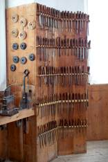 Some more of the lathe tools at Skokloster. Photo: Roald Renmælmo