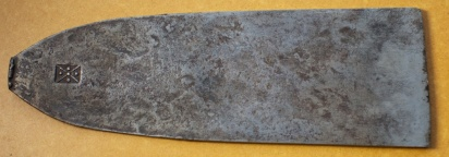 Plane Iron from a plane made by Jan Arendtz in 1664. Photo: Roald Renmælmo