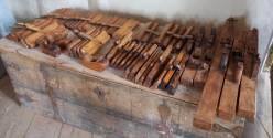 Planes and molding planes ordered from the toolmaker Jan Arendtz in 1664. Photo: Roald Renmælmo