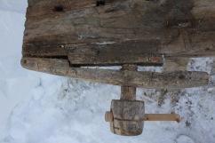 Innfestningen for gjengestykket på siden er gjort med svalehale. Foto: Kai Johansen